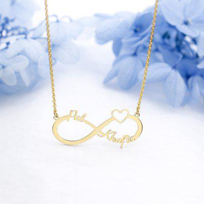 Stainless Steel Custom Name Necklace Personalized Rose Gold Silver Pendant Friendship Necklace