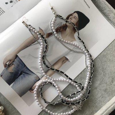 Multi-layer White Pearl Sunglasses Chain Women Sexy Chain For Sunglasses