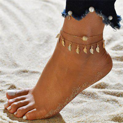 Bohemian Beads Ankle Bracelet for Women Leg Chain Round Tassel Foot Jewelry Accessories