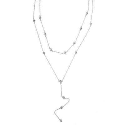 Multilayer Necklace Double Layer Necklace Extender 925 Silver Fashion Women Choker