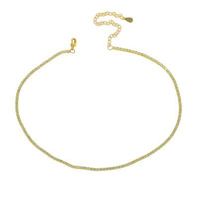 Thin Tennis Chain Necklace Layer Choker Various Gold Chain