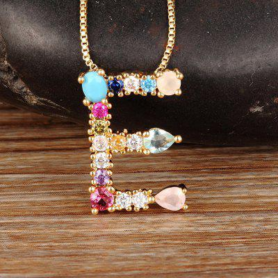 Gold Color Necklace Personalized Letter Name Chain Necklace