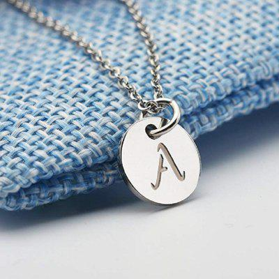 12 mm Gold Initial Necklace Custom Name Necklace for Man