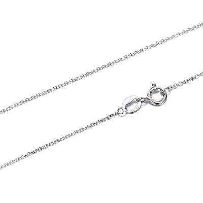 18K White Gold Chain Necklace Pendant 18 inches Jewelry Necklace Women Fine Gift
