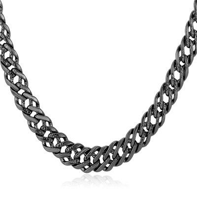 Male Link Necklace Platinum Chain for Men