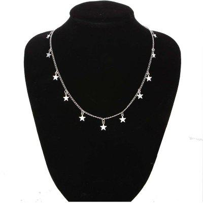 Fashion Women Chain Natural Alloy Gold Color Star Pendant Necklace