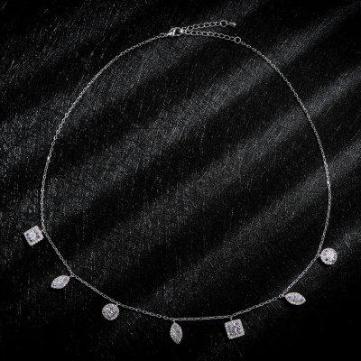 Sterling Silver Pendant Sexy Fine Thin Clavicle Necklace Chain