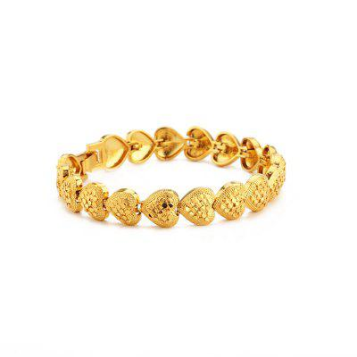 Trendy African Ethiopia 24K Plated Gold Color Curb Cuban Chain Bracelets Luxury Gifts Jewelry