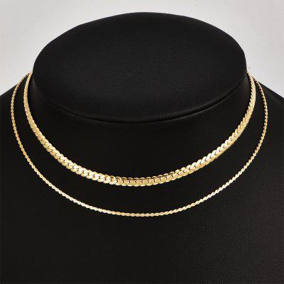 30cm Wave Shape Gold Chain For Girls Layered Necklace Fashion Jewelry