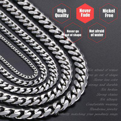 18 inch Mens Link Chains Stainless Steel Cuban Gold Necklace