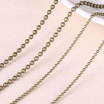 10 Meters Width 2.4mm Ball Chain Round Ball Beads Chains for Necklace Bracelet Jewelry Accessories
