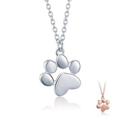 Cute Animal Footprints Paw Necklaces Good Chains for Sale