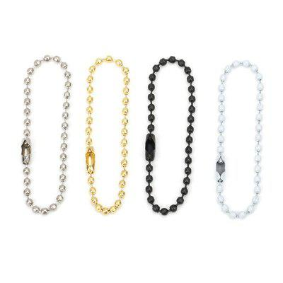 20pcs Round Ball Bead Chain 12cm Dog Tag Bulk Chains With Connector For DIY Pendant Jewelry