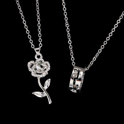 2pcs Cheap Chains Fashion Pendant Necklace Flower Necklaces for Lovers Factory Price