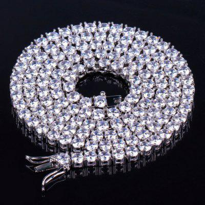 Iced Out Bling AAA Zircon 1 Row Tennis Chains Necklace Men Hip hop Jewelry