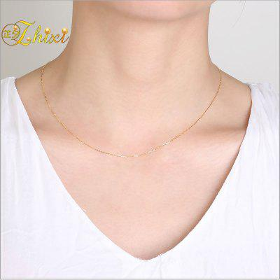 18K White Yellow Gold Chain 18K Gold Jewelry 18 Inches AU750 Fine Jewelry For Women Birthday Gift