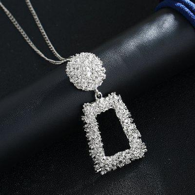 Long Pendant Necklace Gold Silver Color Vintage Necklaces Pendants Women Jewelry
