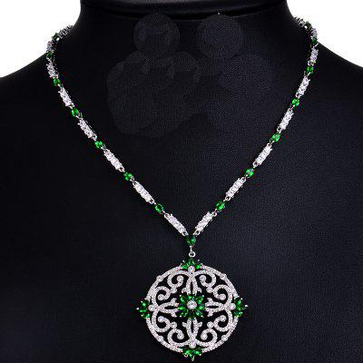 Hollowed AAA Cubic Zirconia Platinum Chain Necklaces