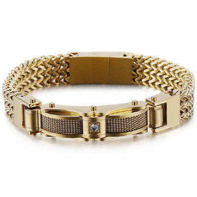 Men Bracelets Fashion Gold Chain Bracelet Men With Magnet Clasp Male Jewelry