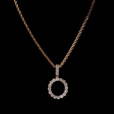 THE BLING KING Small Size CZ Tennis Link Initial Letters Necklace Silver Chain For Men