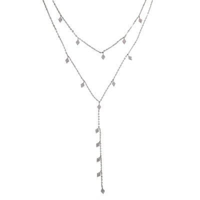 Y Necklace Women Lady Long Necklace Extender Choker Chain Elegant Jewelry Multi Layer Necklaces