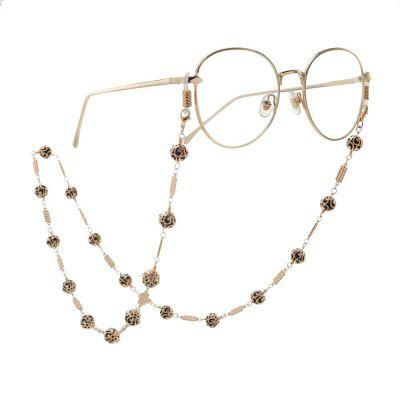 Luxurious Openwork Pattern Sunglasses Lanyard Strap Necklace Eyeglass Black Beads Chain