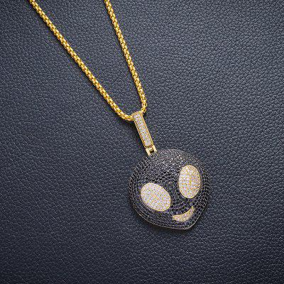 Necklace With Fake Gold Chains AAA Cubic Zirconia Iced Out Necklace For Men Women