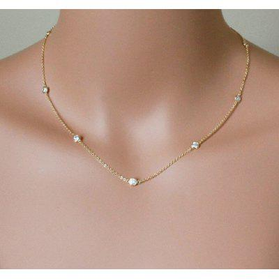 925 Sterling Silver Cute Women Choker Necklace Extender Chain Necklace