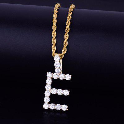 Zircon Tennis Letters Necklaces Pendant Custom Name Charm Chain For Mens