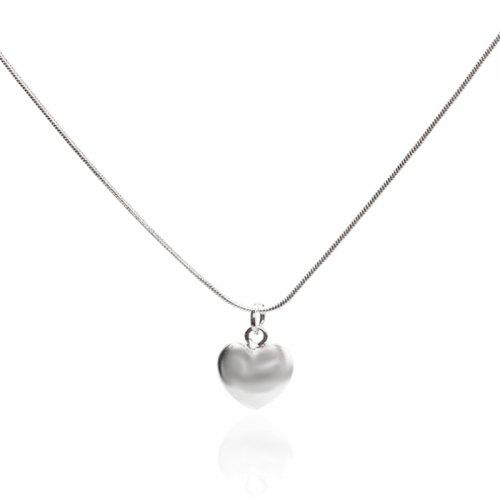 Silver color Necklace with Boxing Glove Charm and Crystals