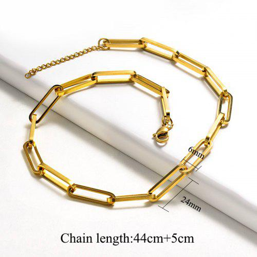 Stainless New Unisex Steel Exquisite For Design Chain Golden Jewelry Necklace