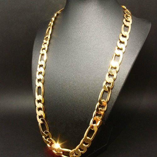 Stainless Steel Heavy Curb Chain. Cross Pendant with 24 Gold Plated 14kt Gold Filled Heart of Jesus