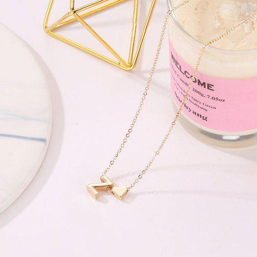 Fashion Women Gold Triangle Chain Letters Choker Sweater Necklace Chain Jewelry