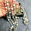 Long Pearl Necklace Choker Chain For Women Double Layer Pendant Necklace Party Jewelry