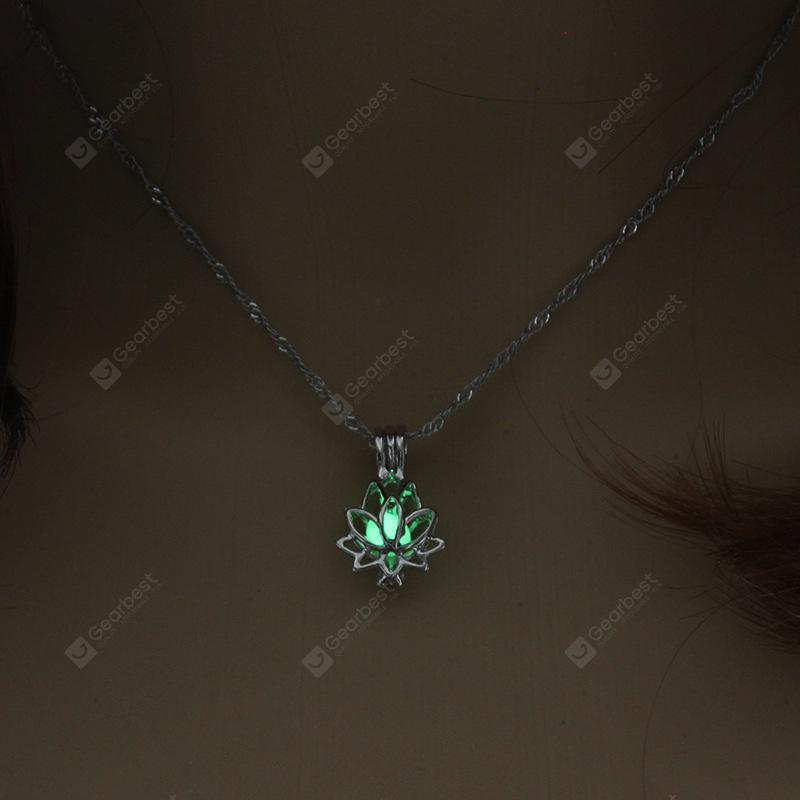 NEW Fashion Blue//Green Glow In The Dark Resin Luminous Pendant Necklace