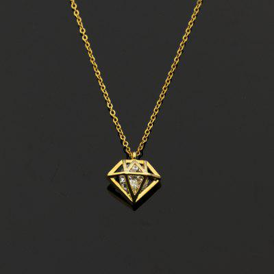 Diamante Aromatherapy Diffuser Necklace Gold and Silver Color Diamond Pendant Stainless Steel Chain