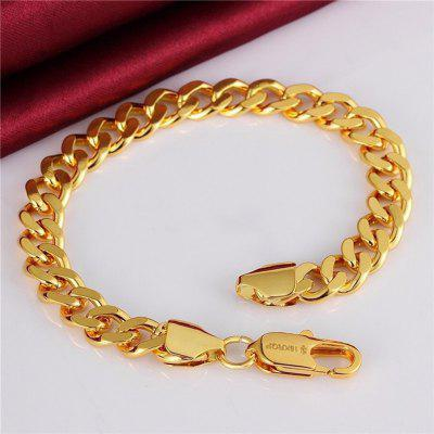 Punk Cuban Chain Gold Necklace Men Link Curb Chain Long Necklace 18k Fashion Jewelry
