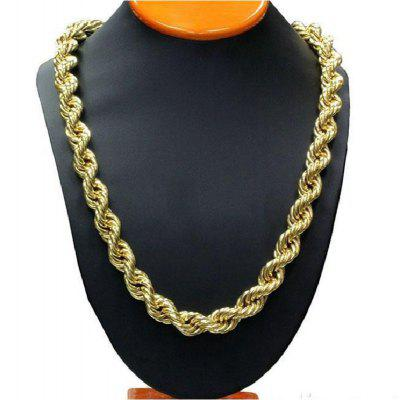 Rope Chain Link Mens Gold Rope Chain Filled Twisted Womens Mens Necklace Chain