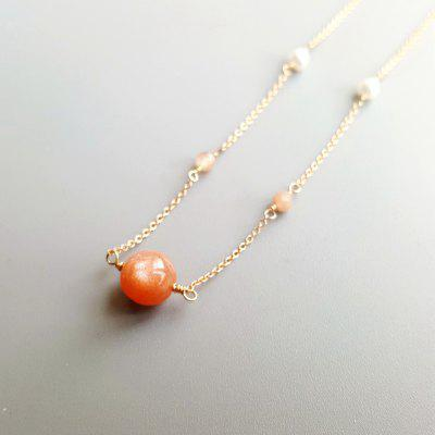 Freshwater Pearl 14K Gold Plated Necklace Delicate Jewelry Chain