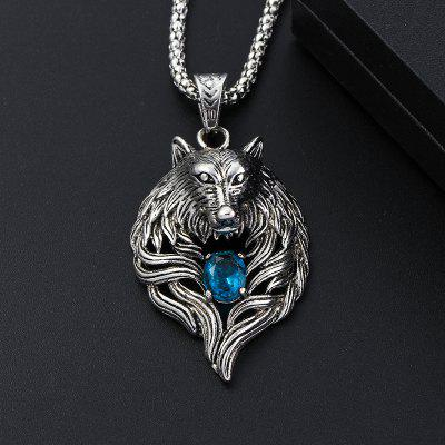 Wolf Head Necklace For Men Women Pendant Cool Jewelry Animal Charm Vintage Punk Chains Gift