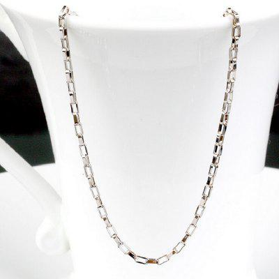 Anenjery 925 Box Link Chain Lobster Clasp Necklace Sterling Silver Chain Mens