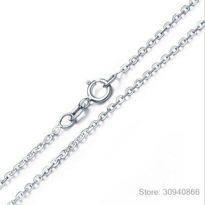 New Shiny Zircon Crystal Circle 925 Sterling Silver Women Pendant Necklaces Jewelry Gift