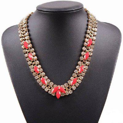 Fashion Jewelry Necklace with Crystal Cheap Gold Chains for Women Resin Statement Choker