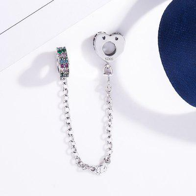 Authentic 925 Sterling Silver Beads Charm Safety Chain Charms Fit Original Pandora Bracelets