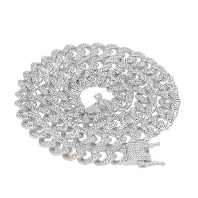 13mm Iced Out Cuban Necklace 18 inch Hip-hop Chain