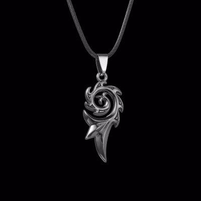 Punk Dragon Flame Titanium Stainless Steel Mens Womens Cool Chains Pendant Necklace