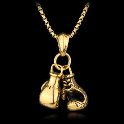 Gold Silver Plated Mini Boxing Glove Necklace Jewelry Stainless Steel Pendant Chain for Boys