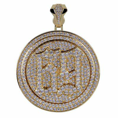 Spinner 69 Saw Letters Pendant Necklace Men Iced Out Cubic Zircon Chain Hip Hop Punk