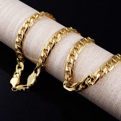 10 MM Gold Color Chain Link Necklace Mens 24 inch Hiphop Rock Choker Male Necklace Accessories