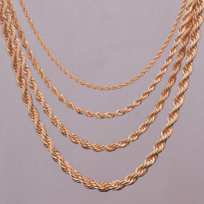 14K Gold Rope Chain Necklace 2mm 3mm For pendant DIY Rope Jewelry Findings